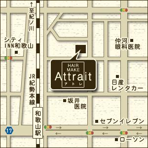 地図 美容室 和歌山市 ヘアスタイル